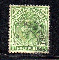 APR685 - FALKLAND 1912 , Yvert N. 26  Usato  (2380A) . - Falkland