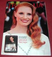 Jessica Chastain TV REVIJA Serbian November 2014 RARE - Books, Magazines, Comics