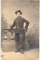 Carte Photo. Chasseur Alpin. 6eme Bataillon De Chasseurs à Pied. 1910 - Cafes
