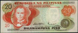 PHILIPPINES - 20 Piso Nd.(1970's) UNC P.150 - Filipinas