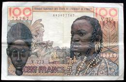 Afrique De L'ouest - 100 Francs Type 1959 - 1965 Non Daté Alphabet V 273  1 Billet - Billets