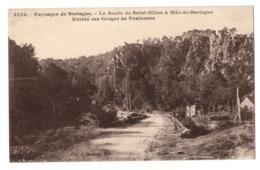 CPA 22 - SAINT GILLES (Côtes D'Armor) - 3734. Entrée Des Gorges De Poulancre, Route De St-Gilles à Mur De Bretagne - Saint-Gilles-Vieux-Marché