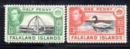 APR691 - FALKLAND 1937 , Yvert N. 78 + 79 Nuovi  *  (2380A) . - Falkland