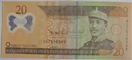 Billet De Le République Dominicaine De 20 Pesos Oro Polymère 2009 Neuf/UNC - Dominicana