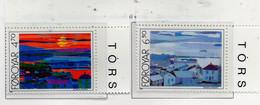 PIA  -  FAROER -  1987  :  Opere Di Zakarias  Heinesen - Vedute Di Torshavn   (Yv 154-55) - Isole Faroer
