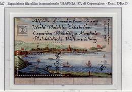 """PIA  -  FAROER  -  1987  : """"Hafnia 87"""" - Esposizione Filatelica Internazionale A Copenhagen  -  (Yv Bf 3) - Isole Faroer"""