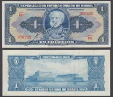 Brazil 1 Cruzeiro ND 1944 (VF+) Condition Banknote P-132 Series 13A - Brazilië