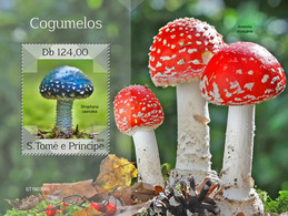 St.Tome&Principe. 2019 Mushrooms. (0306b)  OFFICIAL ISSUE - Funghi