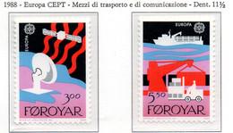 PIA -  FAROER- 1988  : Europa  -  (Yv  160-61) - Isole Faroer