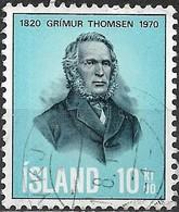 ICELAND 1970 150th Birth Anniv Of Grimur Thomsen (poet) - 10k G. Thomsen FU - 1944-... Republique