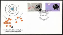 1971 - NEW ZEALAND - FDC + SG 958/959 [New Zealand Station] + WELLINGTON - FDC
