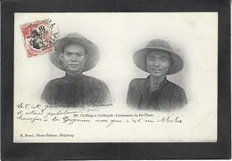 CPA Tonkin Asie Indochine Les Lieutenants Du Dé Tham Circulé - Viêt-Nam