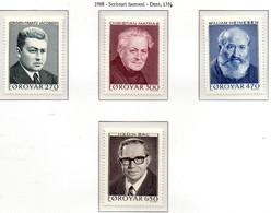 PIA - FAROER - 1988 : Scrittori  Famosi  -  (Yv  162-65) - Isole Faroer