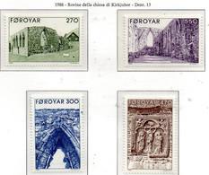 PIA - FAROER - 1988 : Rovine Della Chiesa Di Kirkjubor -  (Yv  169-72) - Isole Faroer