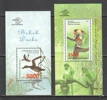 P519 1998 INDONESIA FLORA & FAUNA BIRDS DUCKS MONKEYS 2BL MNH - Canards