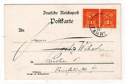 Privatpost-Karte Berlin, Mit MeF. 1 Pfg Marke - Poste Privée
