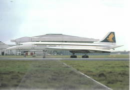 BAC Concorde 102 Supersonico Singapore Airlines G-BOAD At LHR - 1946-....: Modern Era