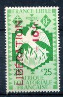 AEF - Surcharge Libération - Yvert 185 - Maury 193 - Neuf Avec Trace De Charnière - T 866 - Neufs