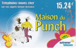TARJETA DE ANTILLAS FRANCESAS DE 15,24€ DE MAISON DU PUNCH (OUTREMER TELECOM) - Antillen (Frans)