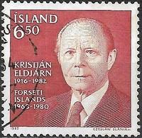 ICELAND 1983 First Death Anniv (September) Of Kristjan Eldjarn (President, 1968-80) - 6k50 Pres. Eldjarn FU - 1944-... Republique