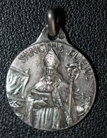 """Pendentif Médaille Religieuse Années 20 Argent 800 """"Saint Eligius (Saint Eloi De Noyon)"""" Grav. Bouix - Religious Medal - Religion & Esotérisme"""