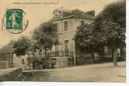 1195. CPA 64 BENEJACQ. CARTE EN PARTIE DEDOUBLEE. POSTE ET MAIRIE - Sonstige Gemeinden