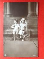 1915 - KINDEREN BRUID EN BRUIDEGOM - KINDHUWELIJK - Enfants