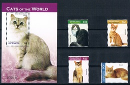 Bloc Sheet + Serie Set Animaux Chats Animals Cats Neuf MNH ** Micronesie Micronesia 2007 - Chats Domestiques