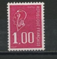 FRANCE - 1,00 ROUGE  BEQUET SANS PHO ET GOMME BRILLANTE - N° Yvert  1892b** - 1971-76 Marianne Of Béquet