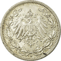 Monnaie, GERMANY - EMPIRE, 1/2 Mark, 1913, Berlin, TTB+, Argent, KM:17 - [ 2] 1871-1918 : Empire Allemand