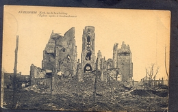 AVELGHEM - Ker Na Beschieting - L'Eglise Après Le Bombardement - Avelgem