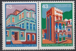 Bulgarije Mi 2725,2726 Architectuur Postfris M.n.h. - Bulgarije