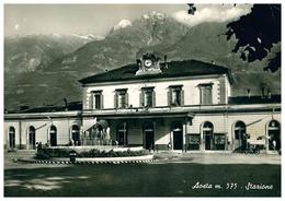 AOSTA STAZIONE FERROVIARIA FERROVIA TRENO - Aosta