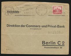 Deutsches Reich Brief EF Nothilfe Bauwerke Brandenburger Tor Stuttgart Berlin - Deutschland