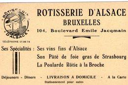 (100) CPA Bruxelles Rotisserie D'Alsace Boulevard Emile Jacqmain    (Bon Etat) - Cafés, Hotels, Restaurants