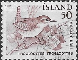 ICELAND 1981 Birds - 50a Winter Wren FU - 1944-... Republique