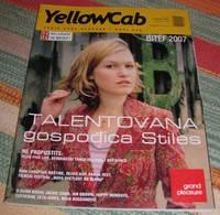 Julia Stiles YELLOWCAB Serbian September 2007 VERY RARE - Books, Magazines, Comics