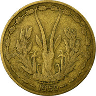 Monnaie, West African States, 10 Francs, 1959, Paris, TB+, Aluminum-Bronze, KM:1 - Ivory Coast