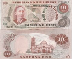 PHILIPPINES - 10 Piso Nd.(1970's) UNC P.154 - Filipinas