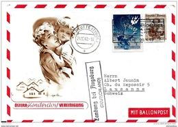 "55 - 71 - Enveloppe D'Autriche Vol Ballon ""Oesterr.Kinderdorf  Vereinigung 1949"" Reutte (Tirol) - Airships"
