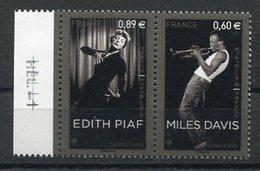 RC 12604 FRANCE 2012 N° 4671 / 4672 EDITH PIAF & MILES MUSIQUE DAVIS  NEUF ** TB - Musica