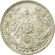 Monnaie, GERMANY - EMPIRE, 1/2 Mark, 1915, Munich, SPL, Argent, KM:17 - [ 2] 1871-1918 : Empire Allemand