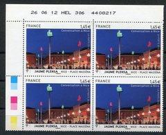 RC 12607 FRANCE 2012 N° 4683 NICE BLOC DE 4 A LA FACIALE NEUF ** TB - France