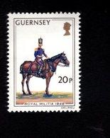 756663578 1974 1978  SCOTT 108 POSTFRIS  MINT NEVER HINGED EINWANDFREI  (XX) MILITIA HORSE - Guernesey