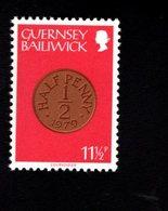 756665540 1980 1981  SCOTT 200 POSTFRIS  MINT NEVER HINGED EINWANDFREI  (XX) COIN TYPE 1/2 PENCE - Guernesey