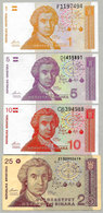 Croatie 1 5 10 Dinara 1991 Lot 4 Billets 3 Sont Neufs - Croazia