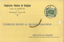CASTEAU  : Poudreries Réunies De Belgique 1938   (  2 Scans ) - Belgio