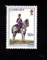 756666428 1974 1978  SCOTT 109 POSTFRIS  MINT NEVER HINGED EINWANDFREI  (XX) MILITIA SOLDIER ON HORSE - Guernesey
