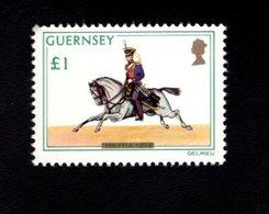 756667007 1974 1978  SCOTT 110 POSTFRIS  MINT NEVER HINGED EINWANDFREI  (XX) MILITIA SOLDIER ON HORSE RUNNING - Guernesey