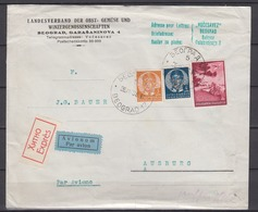 Jugoslawien Eil-LP-Brief Beograd 17/26.VIII.38 MiF 307,310,345 Nach Deutschland - 1931-1941 Royaume De Yougoslavie